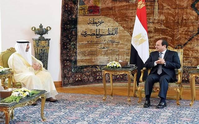 الرئيس السيسي خلال لقاء رئيس مجلس الأمة الكويتي