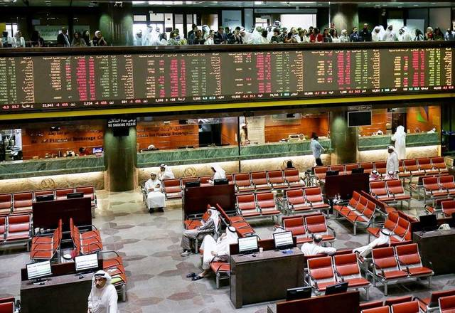 The UAE's twin bourses commenced Sunday in the red, dragged lower primarily by blue-chip stocks