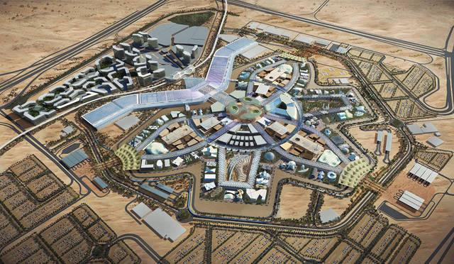 نموذج من العمليات الإنشائية لمعرض إكسبو دبي 2020
