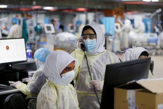 أحد مراكز فحص كورونا في البحرين