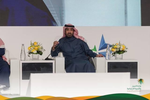 وزير العمل السعودي أحمد الراجحي خلال كلمته بالجلسة الافتتاحية لمنتدى المحاسبين السعودي