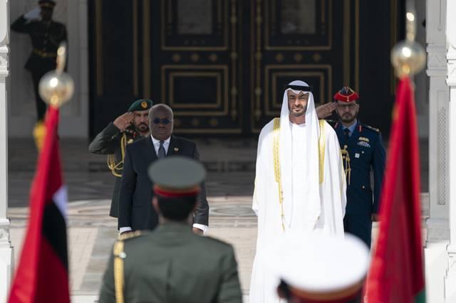 الشيخ محمد بن زايد، ولي عهد أبوظبي - والرئيس نانا أكوفو أدو رئيس جمهورية غانا