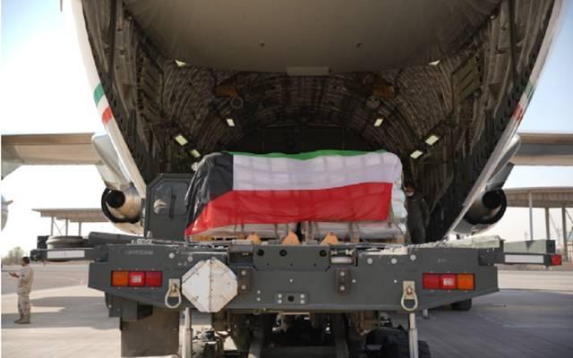 طائرة كويتية محملة بمساعدات غذائية للبنان