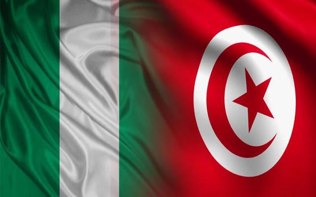 أعلام الدولتين تونس ونيجيريا