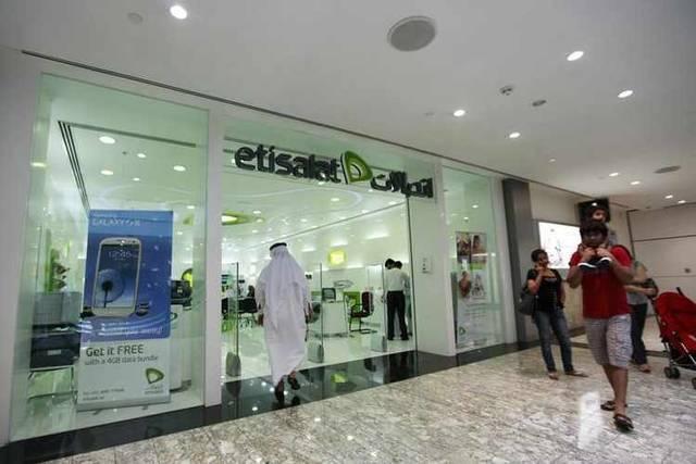 """أحد مراكز الخدمة التابعة لشركة """"اتصالات"""" الإمارات"""