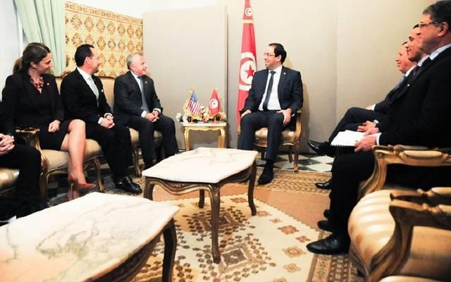 جانب من لقاء الشاهد مع سوليفان ووفد الخارجية الأمريكية - قصر الضيافة بقرطاج/ تونس
