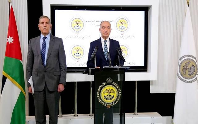 وزيرا الصحة والإعلام الأردنيين في مؤتمر صحفي بمجلس الوزراء ـ أرشيفية
