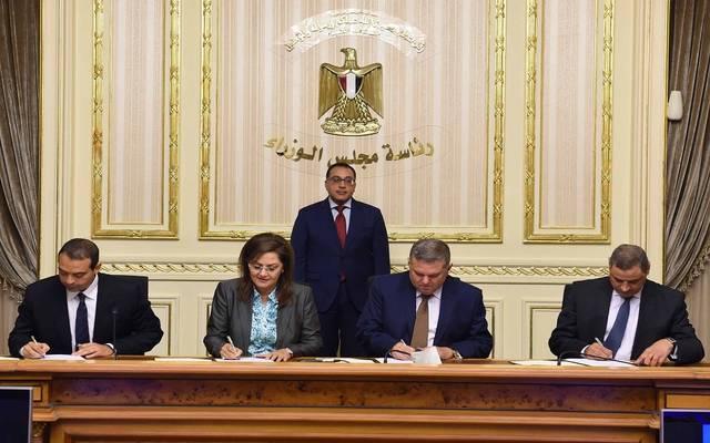 """خلال توقيع اتفاقيتي تعاون استثماري مع صندوق مصر السيادي """"ثراء"""""""