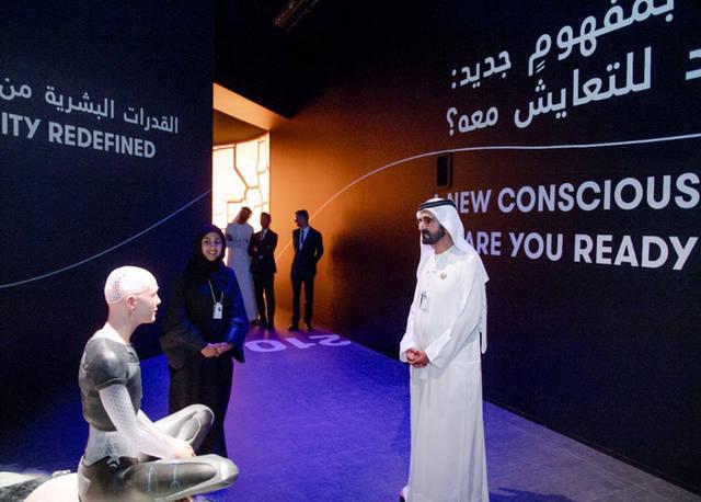 بالصور.. محمد بن راشد يزور متحف المستقبل ومعرض الحكومات الخلاقة