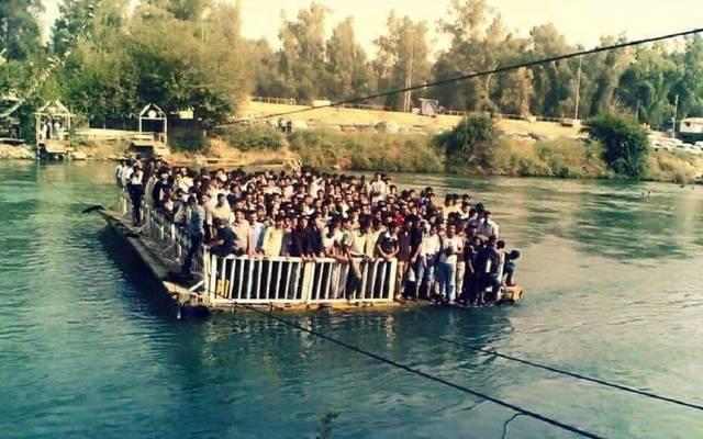 وكالة: ارتفاع حصيلة ضحايا غرق عبارة الموصل لـ105 أشخاص