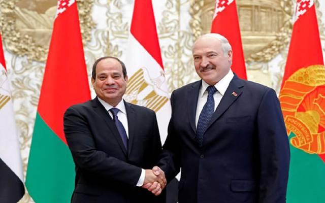 الرئيس  المصري ونظيره البيلاروسي