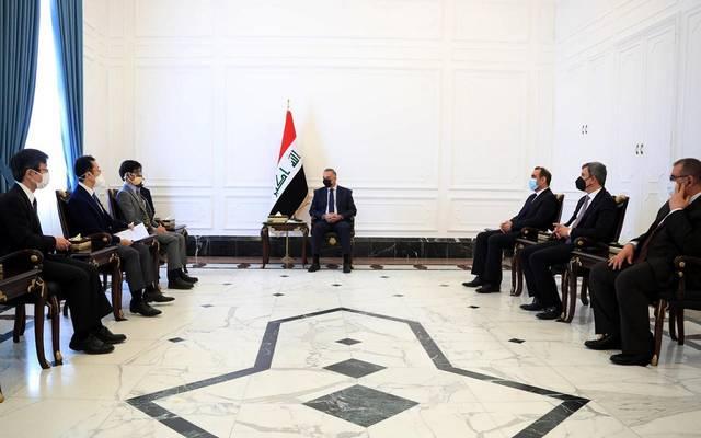 رئيس مجلس الوزراء السيد مصطفى الكاظمي يستقبل وفداً يابانياً من الشركات العاملة في القطاع النفطي