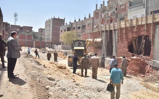 خلال حملة لإزالة المباني المخالفة