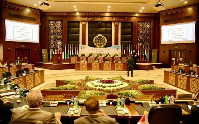 جانب من اجتماع مجلس وزراء النقل العرب اليوم الثلاثاء
