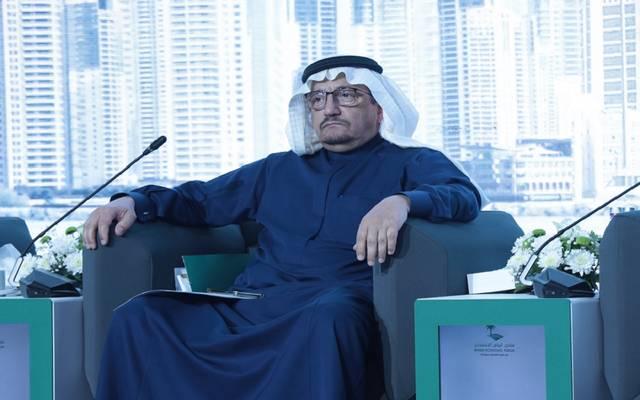 وزير التعليم السعودي حمد بن محمد آل الشيخ خلال الجلسة الافتتاحية لمتتدى الرياض الاقتصادي