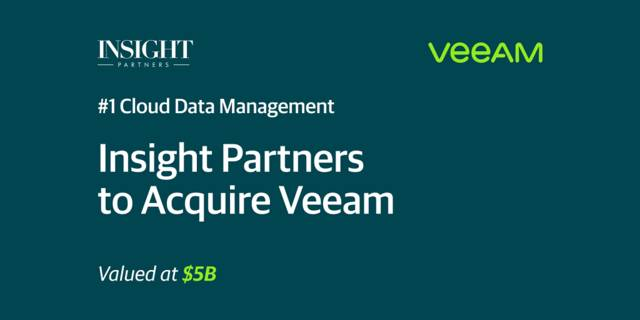 Insight Partners inks $5bn agreement to acquire Veeam