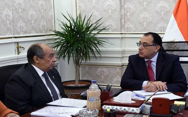 جانب من اجتماع لرئيس الوزراء مصطفى مدبولي، مع وزير الزراعة عز أبو ستيت