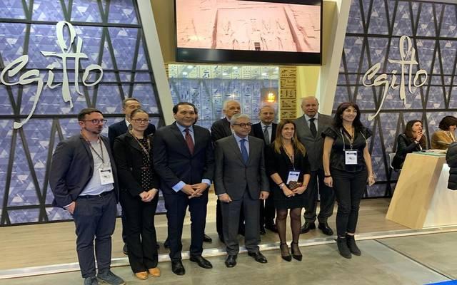 جانب من المشاركة المصرية في معرض ميلانو