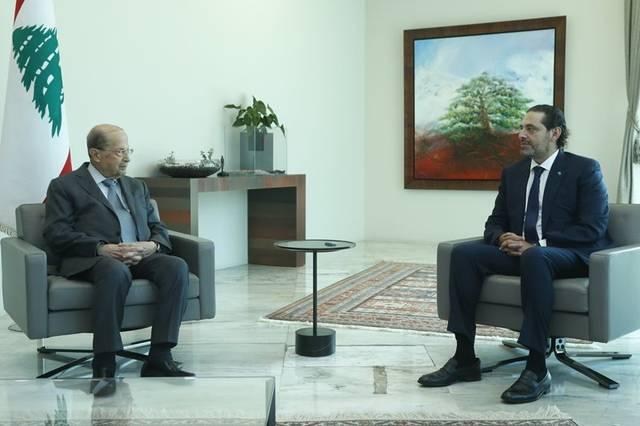"""""""الحريري"""" يقدم 24 وزيراً لتشكيل الحكومة اللبنانية.. ويطالب الرئيس بالرد غداً"""