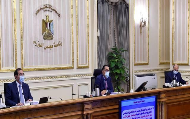 خلال اجتماع مجلس الوزراء المصري اليوم الأربعاء