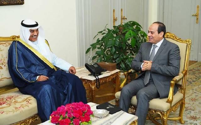 السيسي يبحث تطورات الأزمة القطرية مع وزير خارجية الكويت