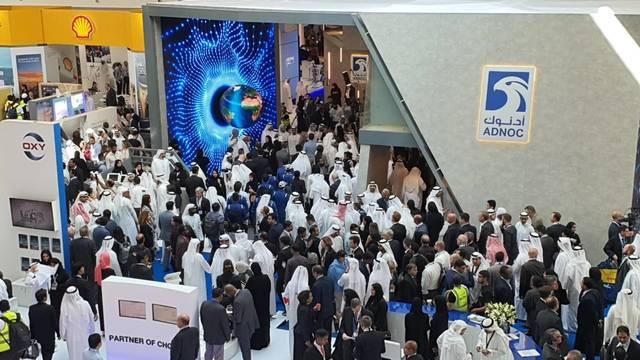 جانب من فعاليات اليوم من أديبك أبوظبي 2019