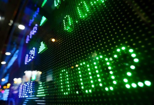 شاشات تداول الأسهم