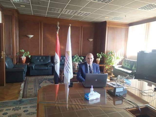 محمد عبد العاطي وزير الموارد المائية والرى  أثناء الاجتماع