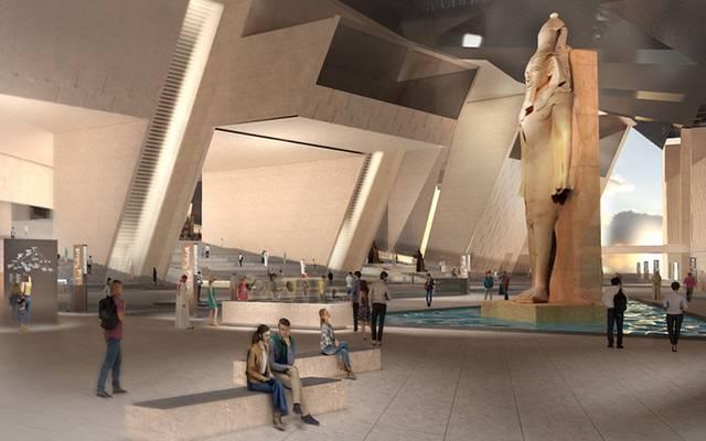 مجسم للمتحف المصري الكبير - أرشيفية