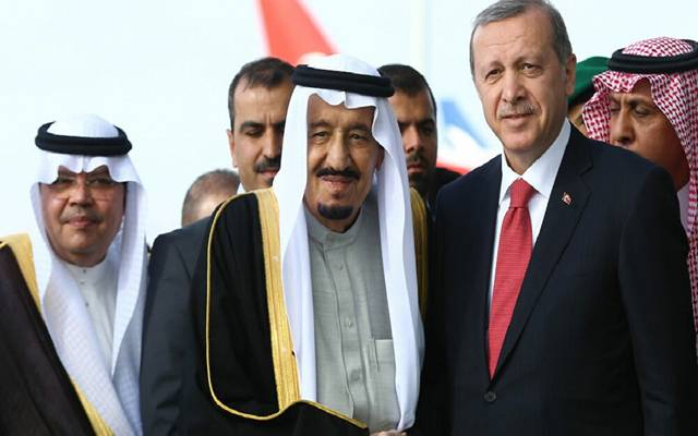 الملك سلمان وأردوغان يبحثان تعزيز العلاقات الثنائية وتنسيق جهود قمة العشرين
