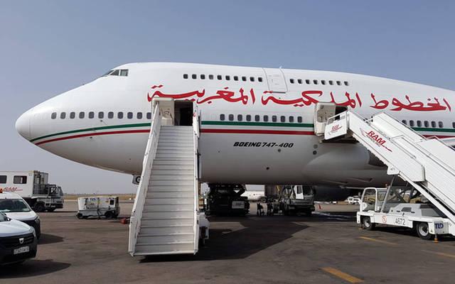 إحدى الطائرات التابعة للخطوط الملكية المغربية