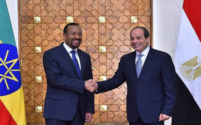 الرئيس السيسي ورئيس وزراء إثيوبيا خلال المؤتمر الصحفي بقصر الاتحادية في القاهرة