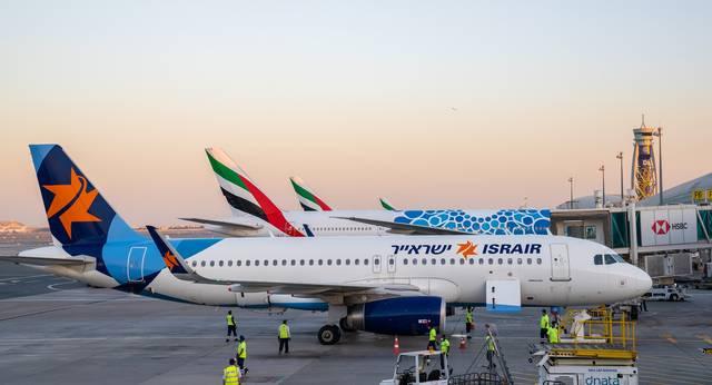 صورة لطائرة شركة إسرآير الإسرائيلية