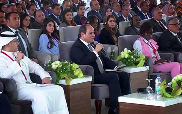 الرئيس عبد الفتاح السيسي خلال الجلسة