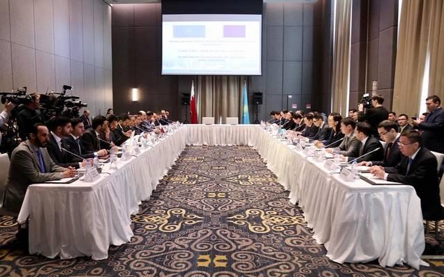 جانب من اجتماعات الجنة العليا القطرية الكازاخستانية المشتركة