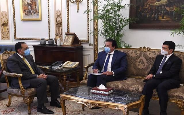 خلال لقاء مصطفي مدبولي، مع سالم بن محمد المالك المدير العام لمنظمة العالم الإسلامي للتربية والعلوم