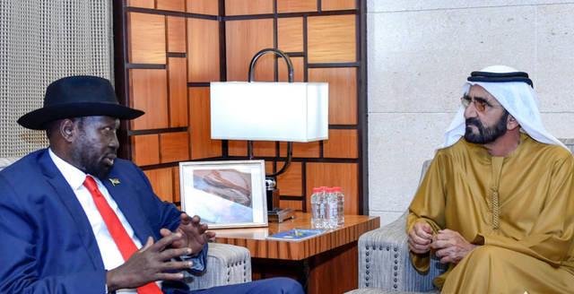 فيديو.. محمد بن راشد يستقبل رئيس جنوب السودان