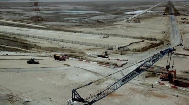 يخدم المشروع جزيرة الأريام التي تقع على بعد 40 كيلومترات من جزيرة أبوظبي