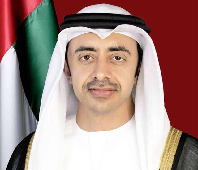 الشيخ عبدالله بن زايد آل نهيان وزير الخارجية والتعاون الدولي الإماراتي