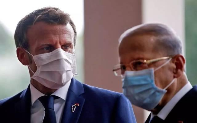 الرئيس الفرنسي خلال لقاء مع نظيره اللبناني ـ أرشيفية