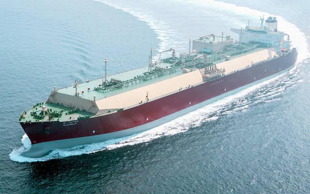 إحدى ناقلات قطر لنقل الغاز