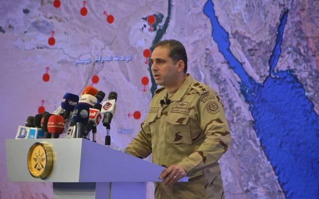 المتحدث العسكري للقوات المسلحة المصري العقيد أركان حرب تامر الرفاع