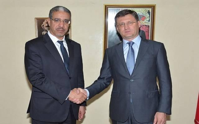 وزير الطاقة المغربي ونظيره الروسي خلال اللقاء