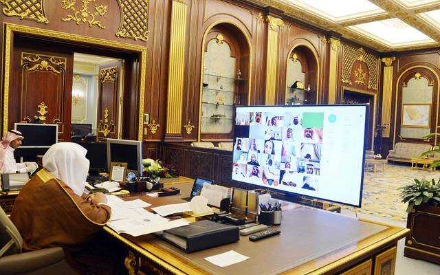 رئيس مجلس الشورى السعودي عبدالله آل الشيخ خلال جلسة اليوم الاثنين