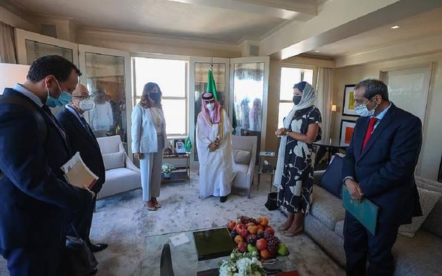 الأمير فيصل بن فرحان بن عبدالله ونائبة رئيس جمهورية كولومبيا وزيرة الخارجية