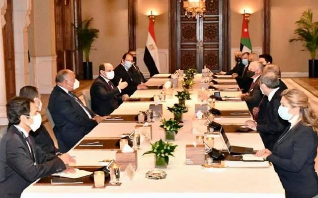 لقاء الرئيس السيسي، مع الملك عبدالله الثاني بن الحسين