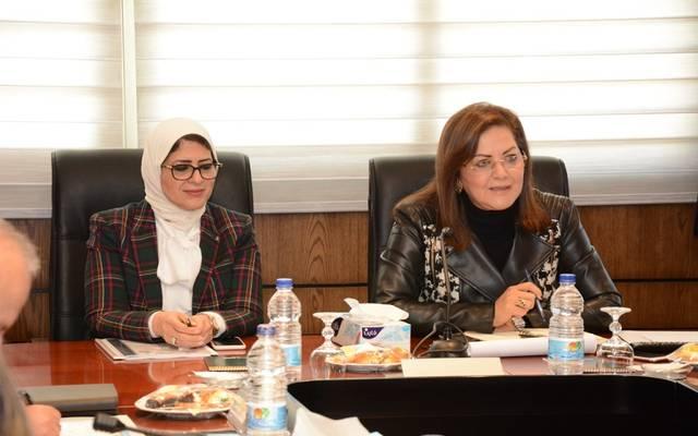 وزيرا التخطيط والصحة المصرية
