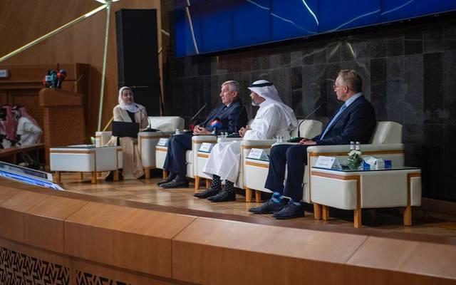 جانب المؤتمر الصحفي لمبادرة مستقبل الاستثمار