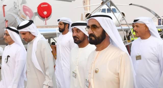 الشيخ محمد بن راشد، نائب رئيس الإمارات، رئيس مجلس الوزراء، حاكم دبي في معرض دبي للطيران