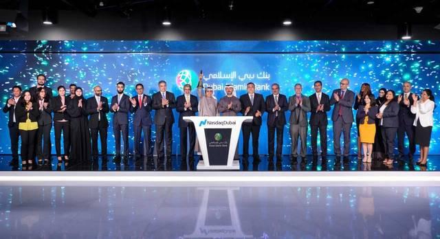 خلال افتتاح السوق للاحتفال بإدراج صكوك بقيمة 750 مليون دولار أمريكي في ناسداك دبي